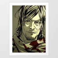 daryl dixon Art Prints featuring Daryl Dixon by David Cousens