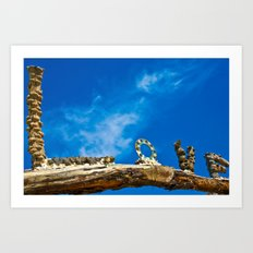 Love and blue sky Art Print