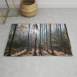 Light Shining in the Forest Rug