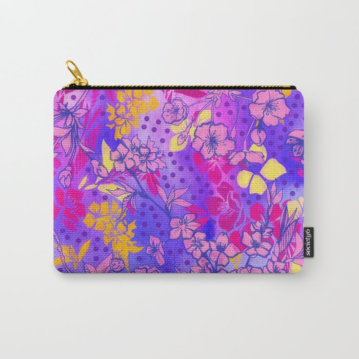 Colorful cherry blossoms Carry-All Pouch