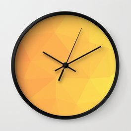 Abstract Geometric Gradient Pattern between Light Orange and Light Yellow Wall Clock