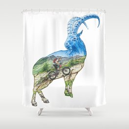 Climb Like a Goat Shower Curtain
