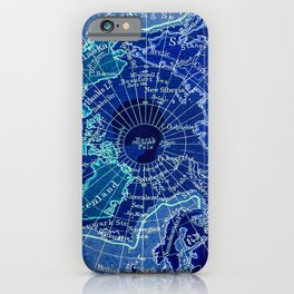 North Pole Neon Map iPhone Case