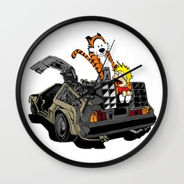 Calvin and Hobbes Back To The Future Wall Clock