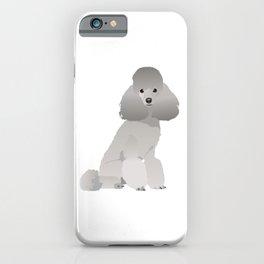 Grey Poodle Dog iPhone Case