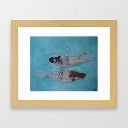 Playtime in the Pool Framed Art Print