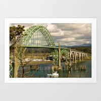 Siuslaw River Bridge, Florence, Oregon Art Print