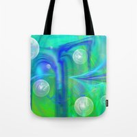bubbles Tote Bags featuring Bubbles by Roger Wedegis