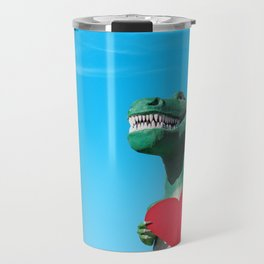 Tiny Arms, Big Heart: Tyrannosaurus Rex with Red Heart Travel Mug