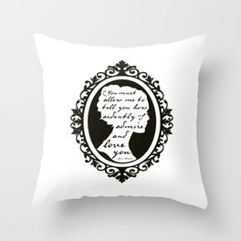 In Vain I Have Struggled Throw Pillow