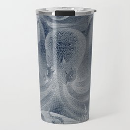 Antique Print Octopus Vulgaris (Gemeiner Pulpe) Travel Mug