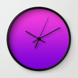 Pink to Purple Ombre Gradient Wall Clock