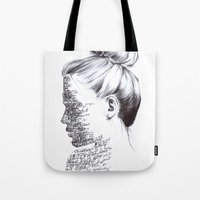 the national Tote Bags featuring THE NATIONAL by Alice Green