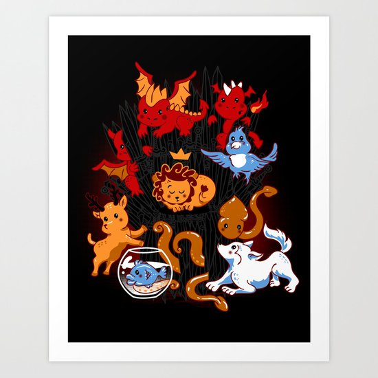 Little Thronies Art Print