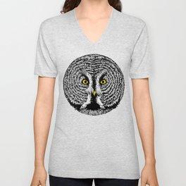 Round Owl Unisex V-Neck