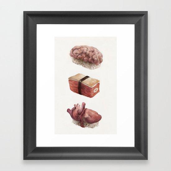 Fresh Flesh Framed Art Print