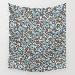 Peonia Officinalis Blue Wall Tapestry