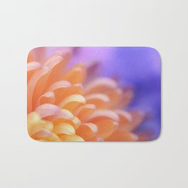 Flower Sunrise | cute pastel flower, peach flowers, orange floral pattern, pretty petals, macro Bath Mat