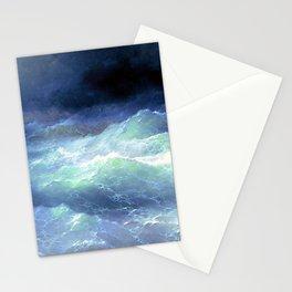 Among the waves- I. Aivazovsky Stationery Cards