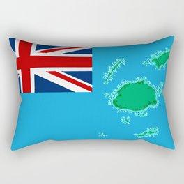 Fiji Map with Fijian iTaukei Flag Rectangular Pillow