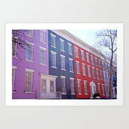 Colourful Streets Greenwich Village, NYC Art Print