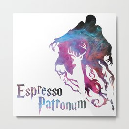Espresso Patronum HarryPotter Metal Print