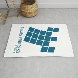 Binary Fortress Software (blue logo) Rug
