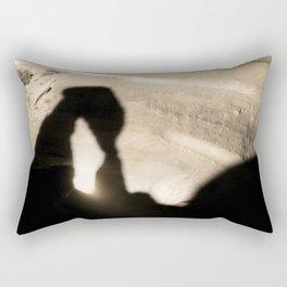 Delicate Arch shadow Rectangular Pillow