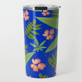 Leaves on Blue Travel Mug