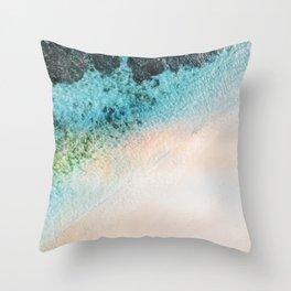 Abstract coastal Throw Pillow