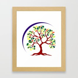 Tree of Happiness Framed Art Print