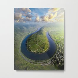 Incredible Mosel River Bend in Germany Metal Print
