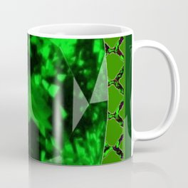 EMERALD GREEN MAY GEM BIRTHSTONE MODERN ART DESIGN Coffee Mug