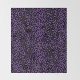 Deep Purple Leopard Skin Pattern Throw Blanket