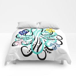 pretty octupus Comforters