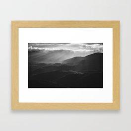 Sunrise in North Georgia Mountains BW #blackwhite Framed Art Print