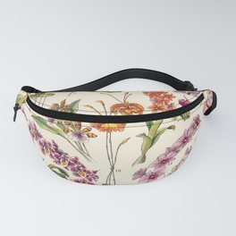 Adolphe Millot - Orchids - French vintage botanical illustration Fanny Pack