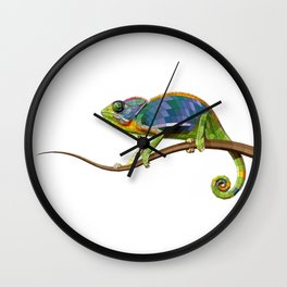 The Chameleon (Colored) Wall Clock