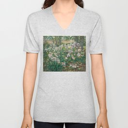 Windflowers by Gaines Ruger Donoho Unisex V-Neck