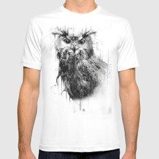 DARK OWL White Mens Fitted Tee MEDIUM