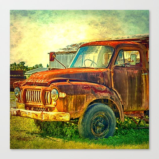 Old Rusty Bedford Truck Canvas Print