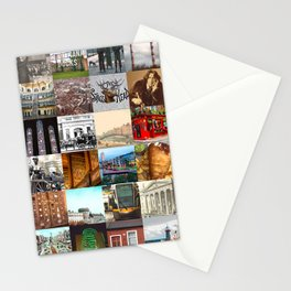 Everything from Dublin - collage of typical images of the city and history Stationery Cards