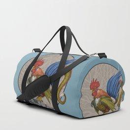 Nevine Blue Tailed Cockatrice Duffle Bag