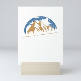 Explore The World Travelling Camper Camping Outdoor Mini Art Print