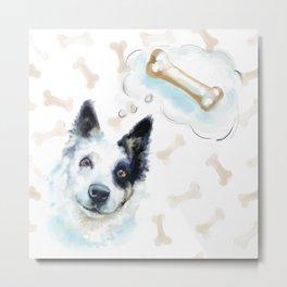 Dog thoughts Metal Print