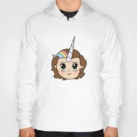 the last unicorn Hoodies featuring THE LAST UNICORN by SaladInTheWind