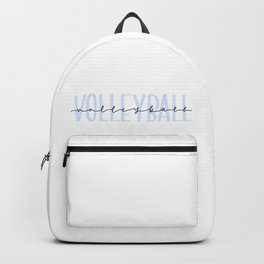 Blue Volleyball Backpack