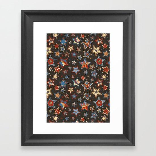 Doodle Stars Framed Art Print