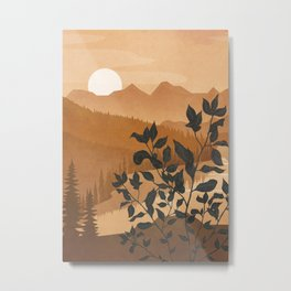 Growth over the high mountain Metal Print