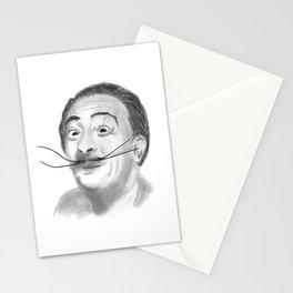 Salvador Dali portrait sketch digital artwork Stationery Cards